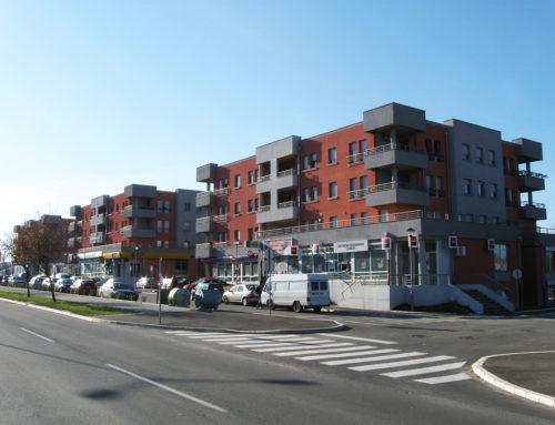 Tri stambeno-poslovne zgrade – K objekti